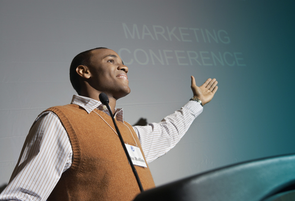 Business man presenting conference meeting